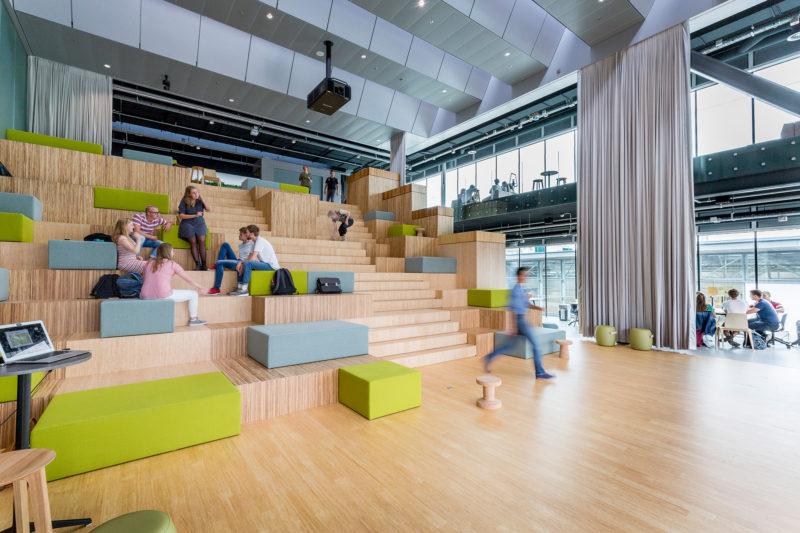 Inspirerende rondgang door onderwijsgebouw Pulse van TU Delft